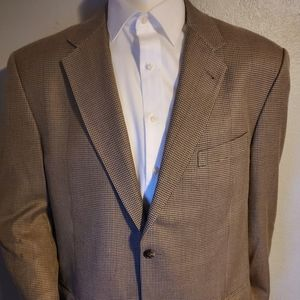 Joesph Abboud Silk & Wool Brown Sport Coat 44R